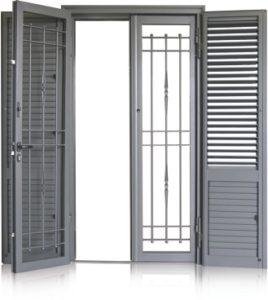 infissi combo quarto napoli,persiana in alluminio orientabile piu cancello o persiana in ferro orientabile o fissa e cancello